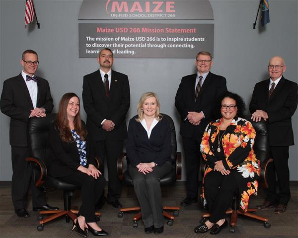 Members of the Maize Board of Education