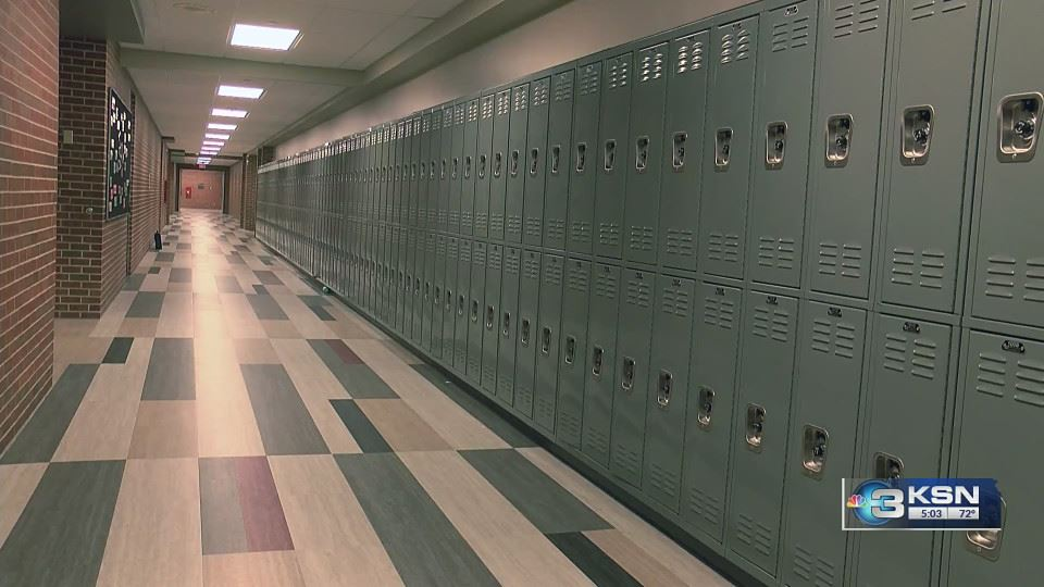 Maize Middle School added new lockers at the beginning of the year to accommodate enrollment growth.